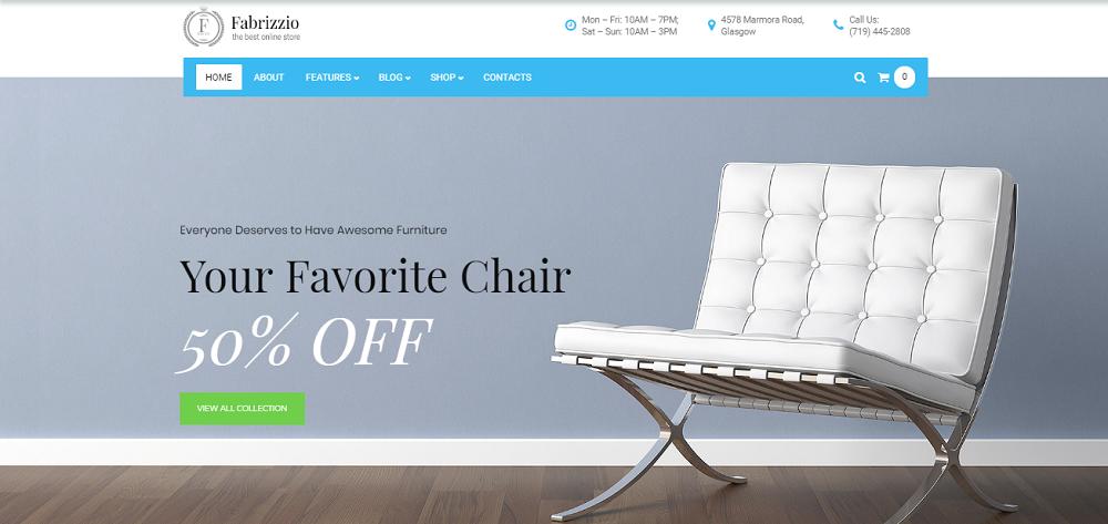 Fabrizzio - Furniture Store WooCommerce Theme