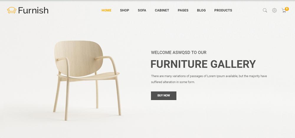 Furnish - Minimal Furniture WooCommerce Theme