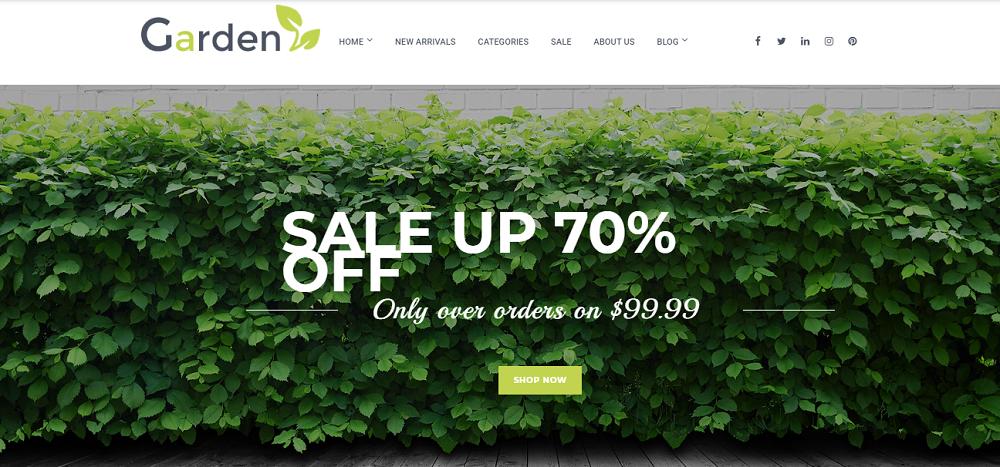 Garden - Garden Centre Woocommerce Theme