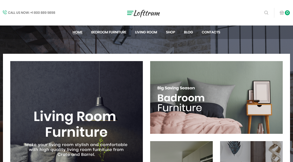 Lofttrum - Furniture Online Shop Elementor WooCommerce Theme