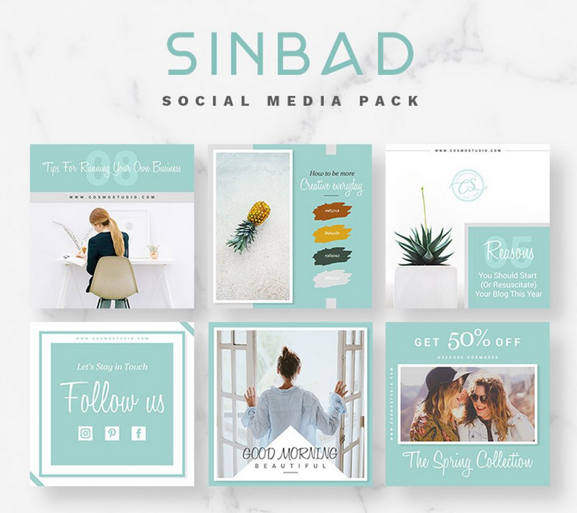SINBAD Social Media Pack Bundle