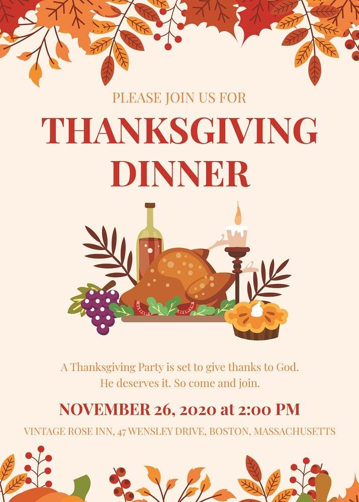thanks giving invitation