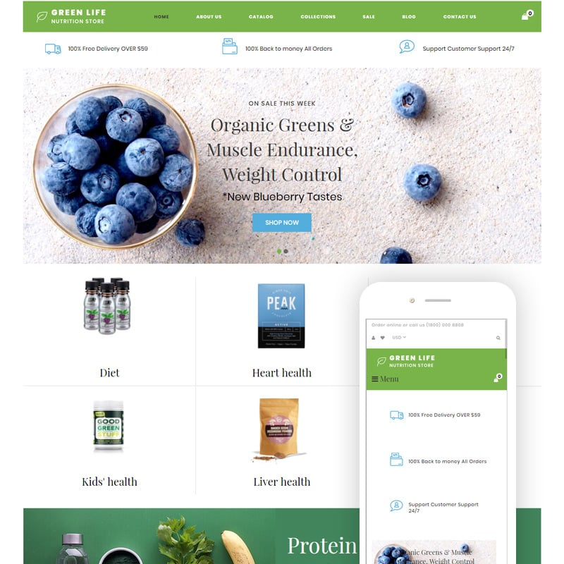 Nutrition Responsive Simple Shopify Theme