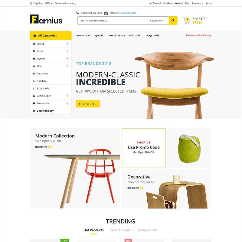 Furniture Store HTML5 Website Template