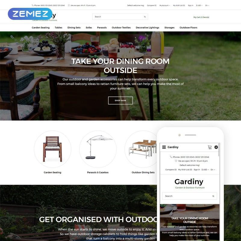 Furniture Parallax Elegant OpenCart Template