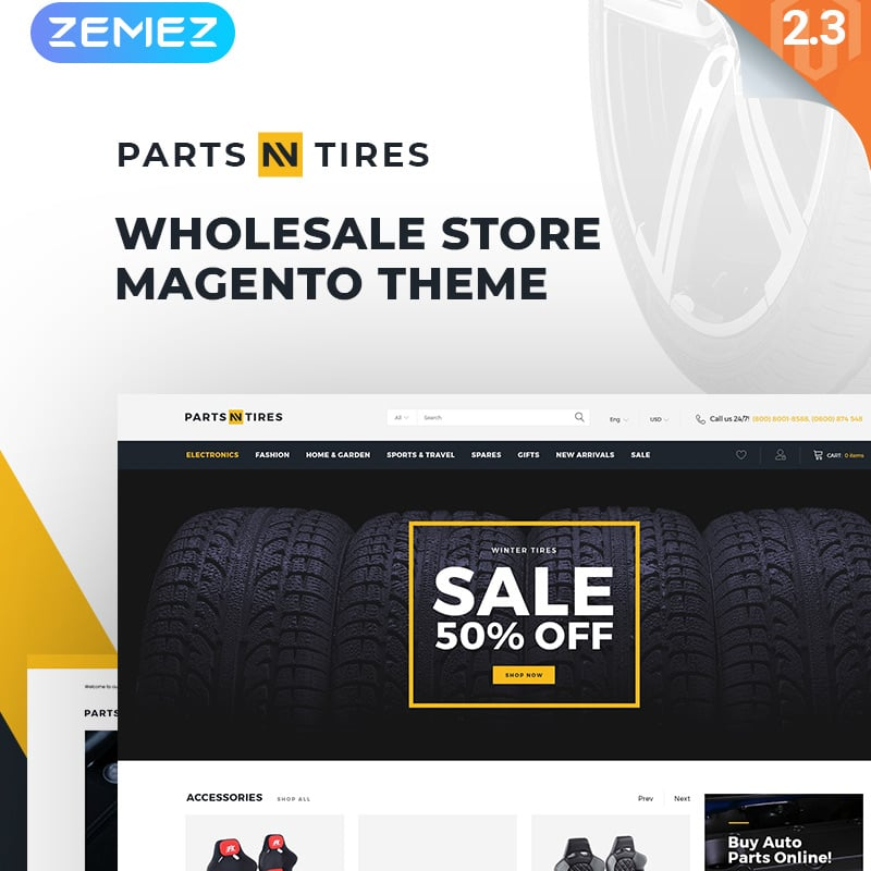 Car Tuning Clean Responsive Magento Theme