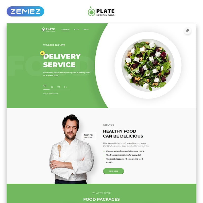 One Page Clean HTML Landing Page Template