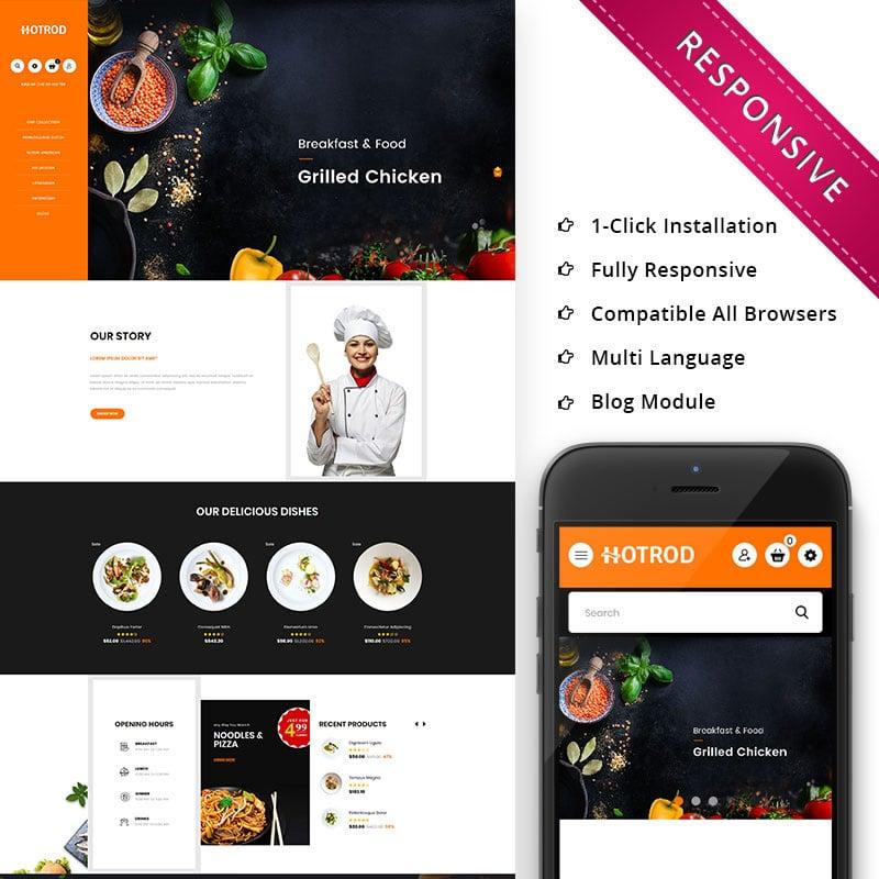 Fast Food - Responsive OpenCart Template