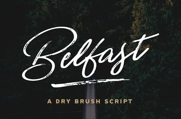 Belfast - A Dry Brush Script Font
