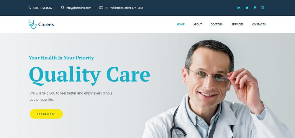 Careex - Family Doctor Elementor WordPress Theme
