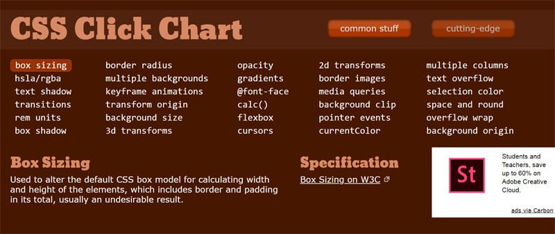 30+ Useful HTML, CSS & JavaScript Cheat Sheet Examples for