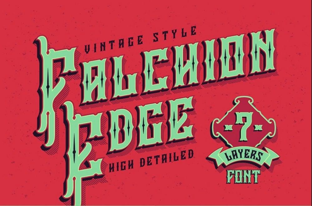 Falchion Edge Font