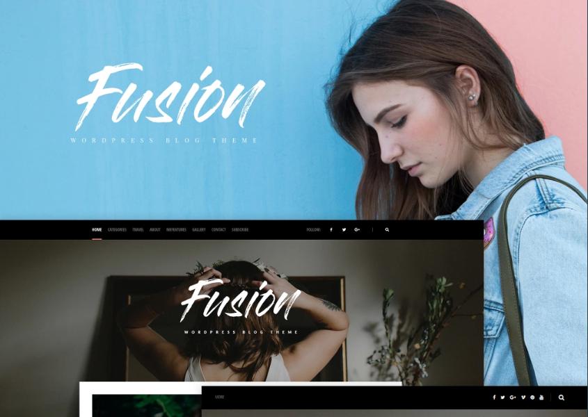 Fusion - WordPress Girly Template