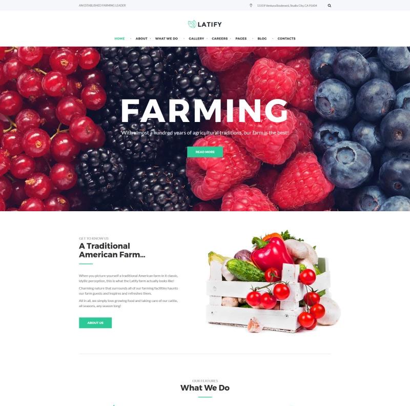 Latify - Private Farm Responsive WordPress Theme