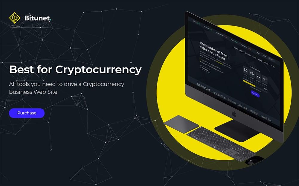 Bitunet - Cryptocurrency Elementor WordPress Template