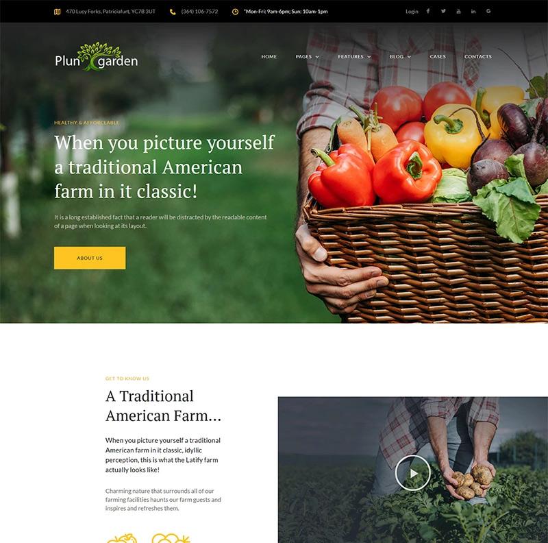 Plungarden - Village Farm Responsive Elementor WordPress Theme