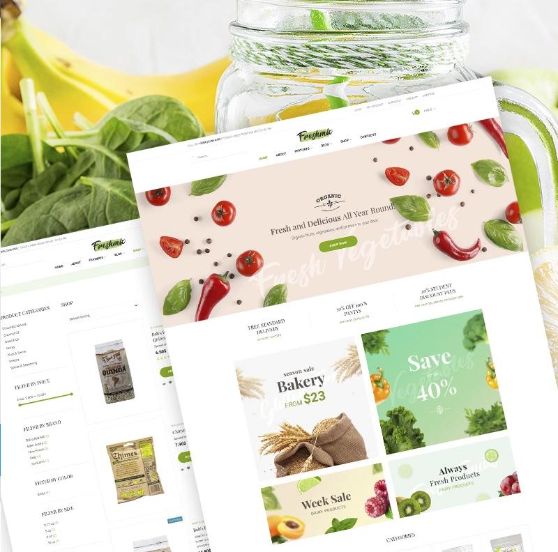 Freshmix - Organic Food Online Store Elementor WooCommerce Theme