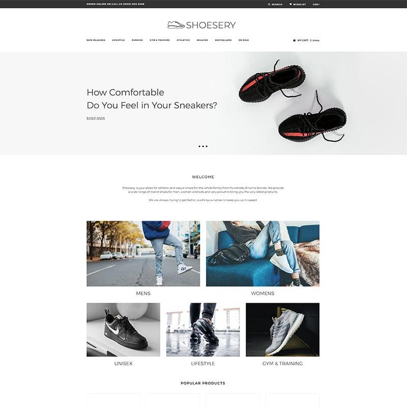 Shoe Store Clean Shopify Theme