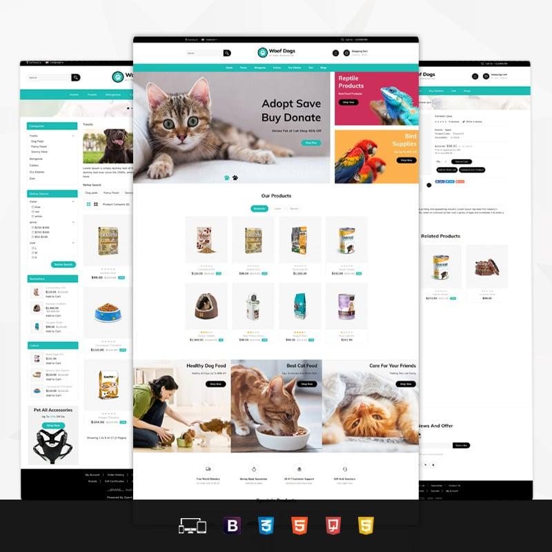 Pet Store OpenCart Template