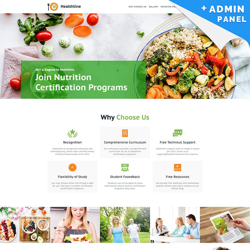 Nutrition Landing Page Template