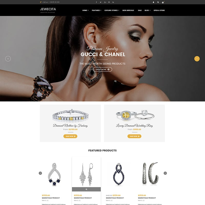Responsive Jewelry Store Shopify Theme