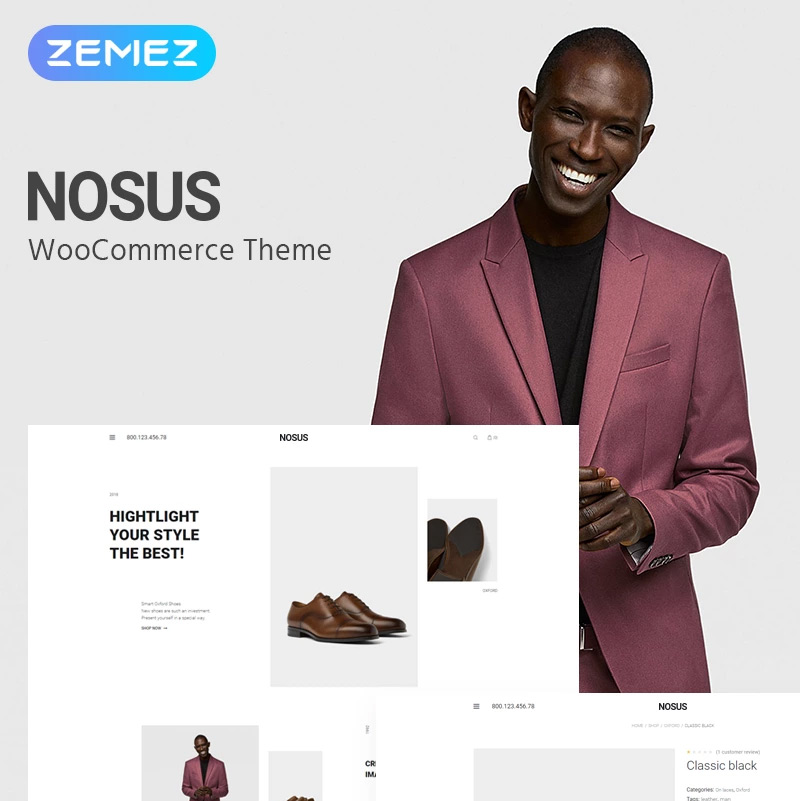 Nosus — Shoes ECommerce Minimal Elementor WooCommerce Theme