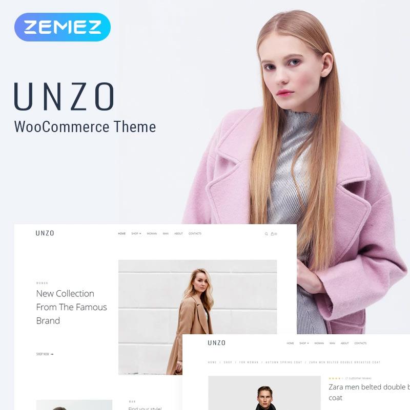 Unzo — Apparel Shop ECommerce Minimal Elementor WooCommerce Theme