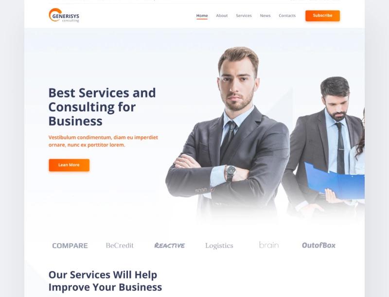 Generisys - Business Consulting Multipurpose Classic Elementor WordPress Theme