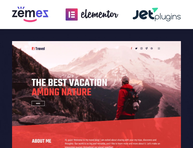 ITravel - Trendy Travel Blog Website Template