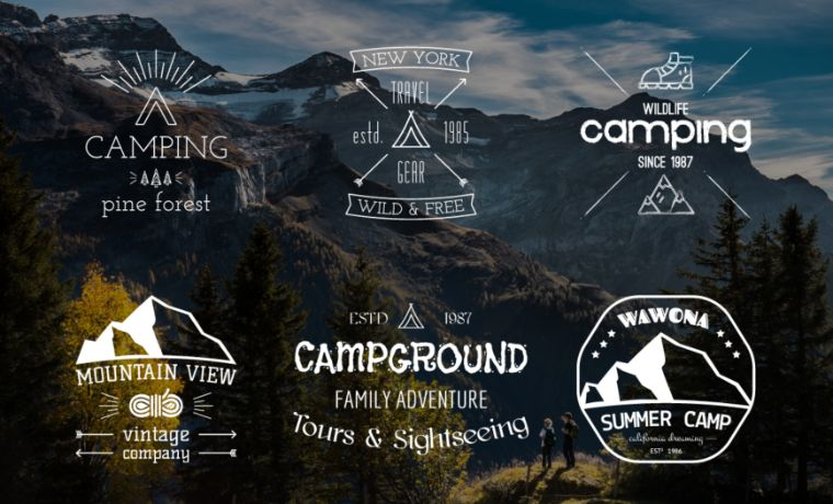 Camping Collection Logo Template
