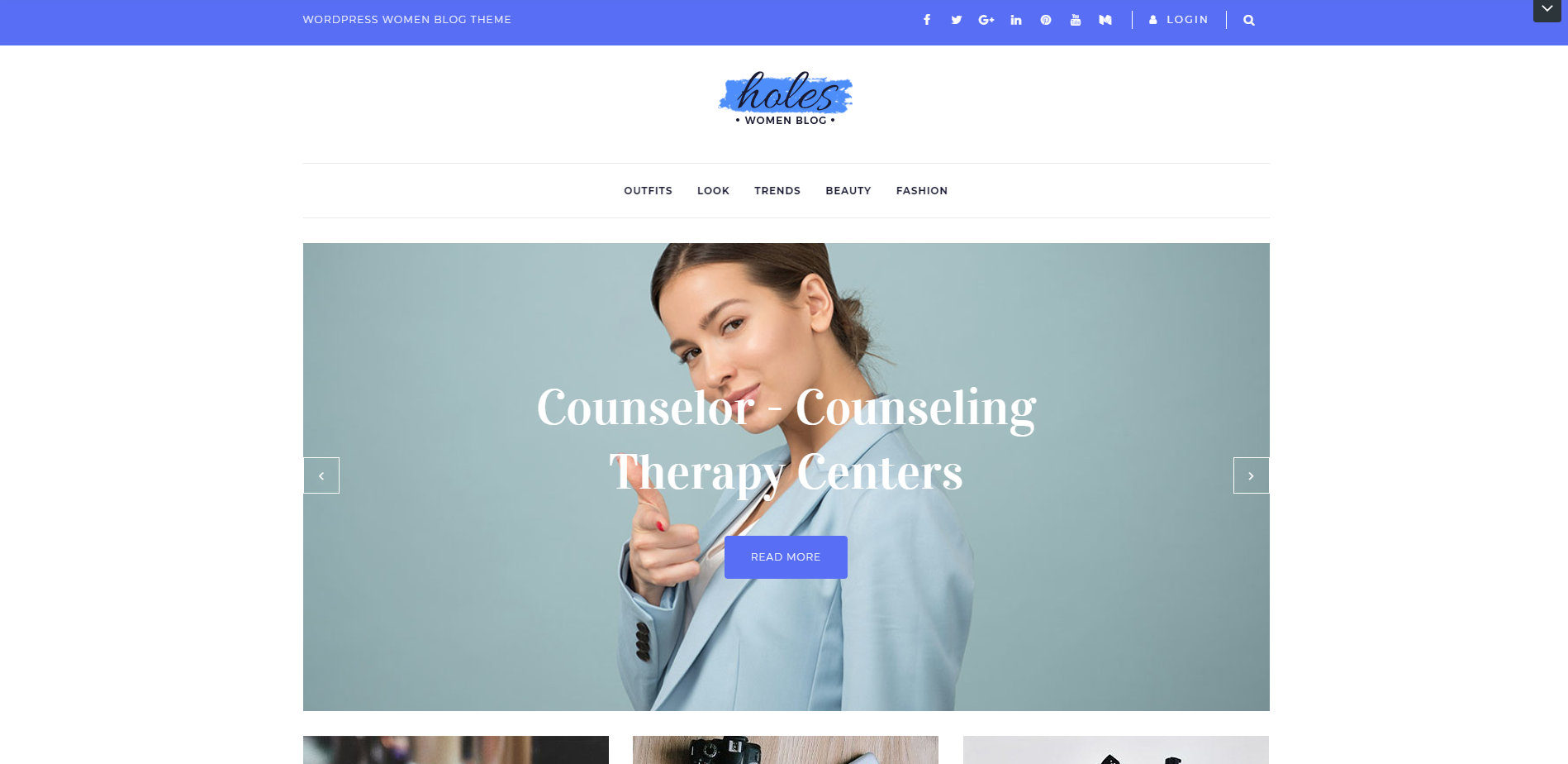 Holes - Women Blog Multipurpose Theme