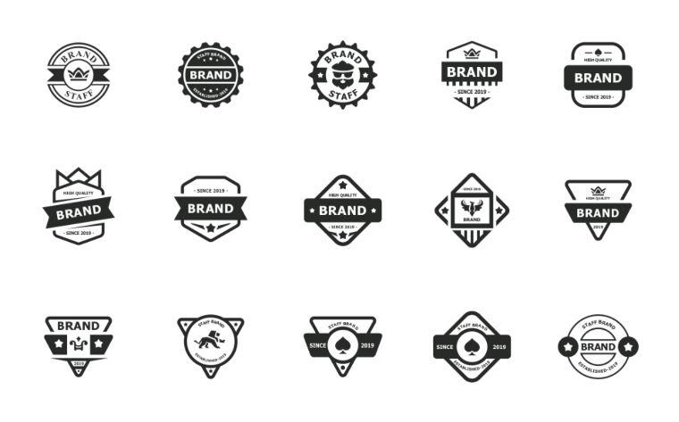 Modern Badge Pack Logo Template