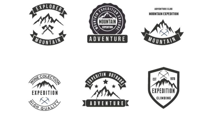 Mountain and Adventure Explore Logo Template