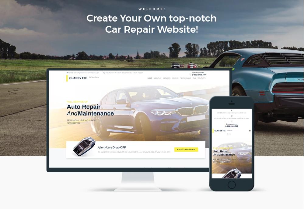 Classy Fix - Car Repair Elementor WordPress Theme