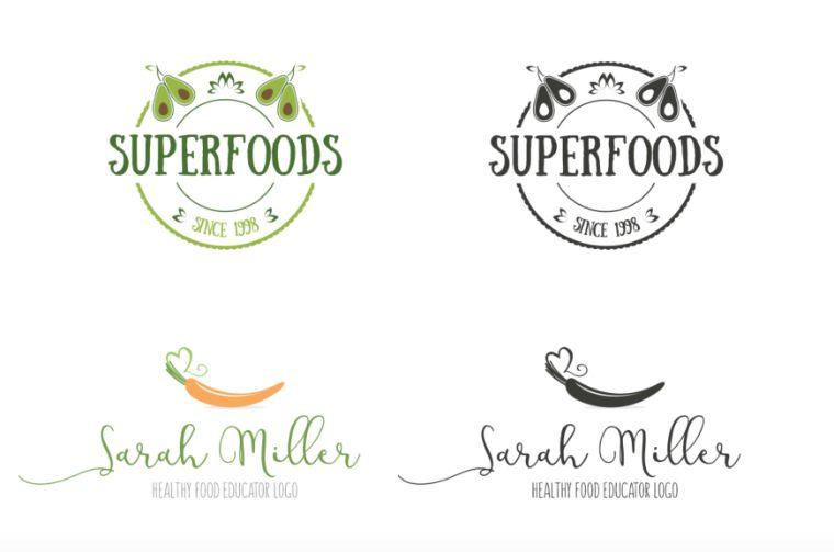 Unique Food Logos