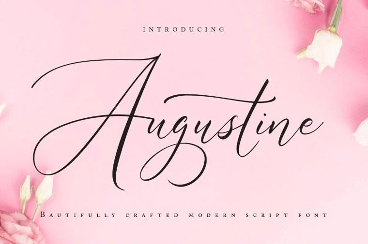 Augustine   Modern Script Font.