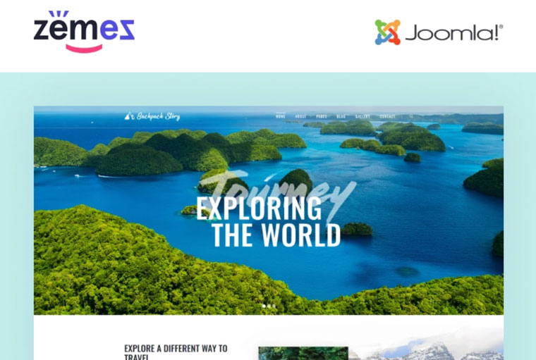 Backpack Story - Travel Agency Multipage Modern Joomla Template.