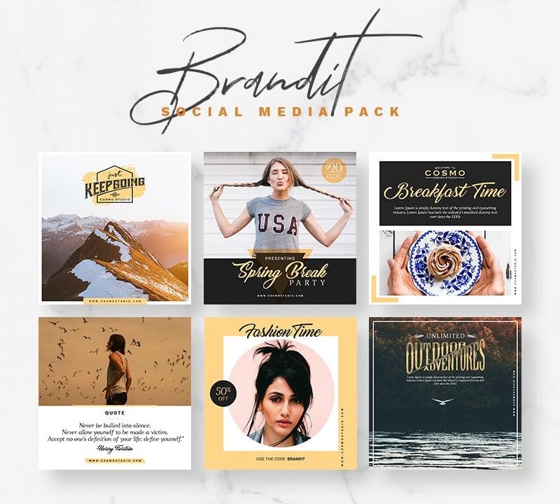 Brandit Social Media Pack Social Media