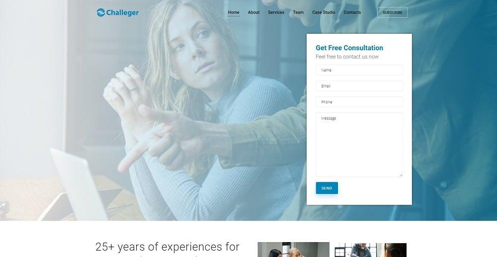 Challeger - Business Consulting Multipurpose Modern Elementor WordPress Theme