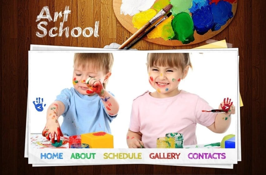 Free Website Template - Art School Website Template