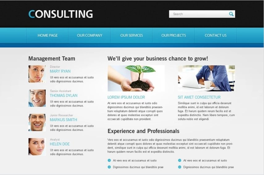Free Website Template for Consulting Business Website Template