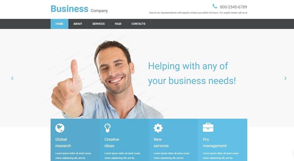 Free Business Responsive Website Template Website Template