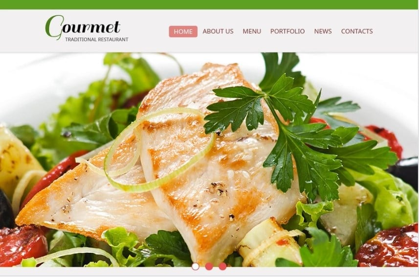 Free Website Template - Restaurant Website Template