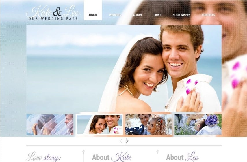 Free Wedding Template Website Template