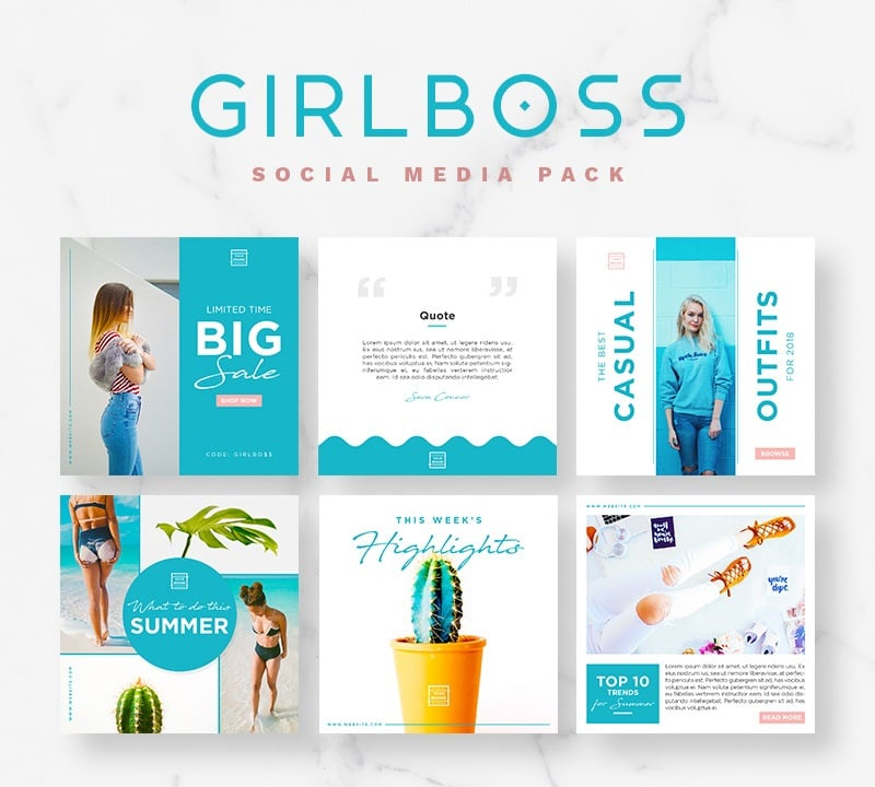 Girlboss Social Media Pack Social Media