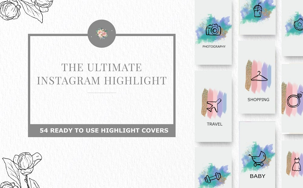 50 Free Instagram Stories Highlight Icons for Your Business