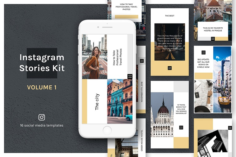 Instagram Stories Kit (Vol.1) Social Media Template.