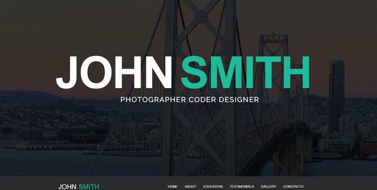 Online CV WordPress Theme.
