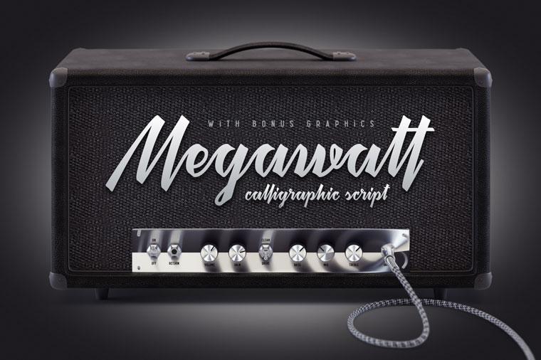 Megawatt Font.