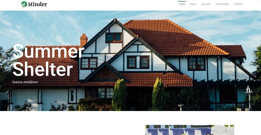 Minder - Luxury Residence Multipurpose Classic Elementor WordPress Theme